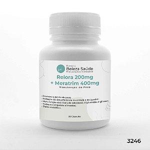 Relora 200mg + Meratrim 400mg - Manutenção do Peso - 60 Cápsulas