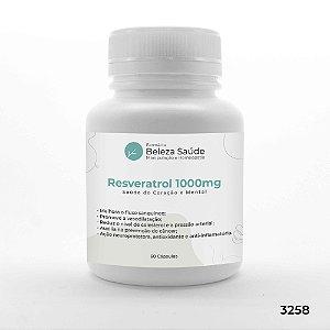 Resveratrol 1000mg Saúde do Coração e Mental - 60 Cápsulas