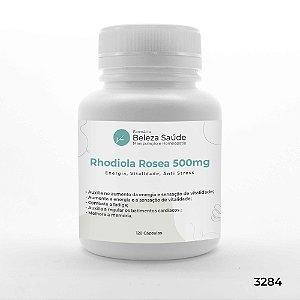 Rhodiola Rosea 500mg :  Energia, Vitalidade, Anti Stress - 120 Cápsulas
