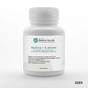Rutina + Diosmina + Hesperidina + Asiaticoside - 180 Cápsulas
