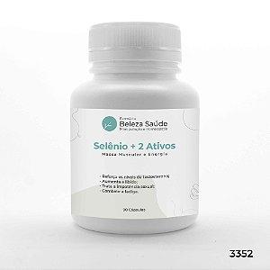 Selênio + Vitamina E  + 1 Ativo - Massa Muscular e Energia - 90 Cápsulas