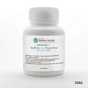 Serenzo + Saffrin + L Theanina - Auxilio na Dieta - 30 Cápsulas