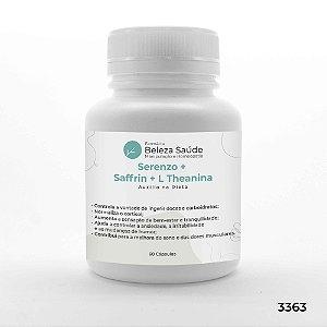 Serenzo + Saffrin + L Theanina - Auxilio na Dieta - 60 Cápsulas