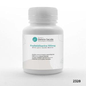 Fosfatidilserina 100mg Ativo para Saúde Mental