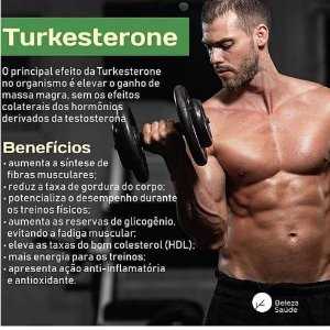 Turkesterone 500mg + Tribullus Terrestris 750mg : Força Muscular, Estimulante Sexual, Libido