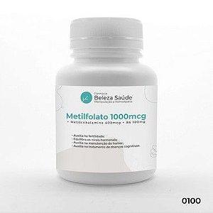 Metilfolato 1000mcg + Metilcobalamina 400mcg + B6 100mg