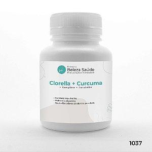 Clorella + Curcuma + Gengibre + Jurubeba - Combate Mau Hálito