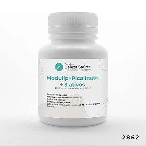 Modulip + Picolinato + 3 Ativos - Diminui Compulsão Alimentar