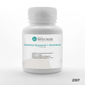 Gamma Oryzanol + Damiana + 3 Ativos - Força e Energia