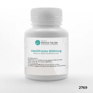 Metil Folato 800mcg - Detox e Ação Cardiovascular