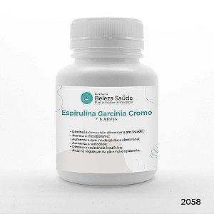 Espirulina Garcinia Cromo + 6 Ativos - Termogênico Abdominal
