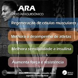 Ácido Araquidônico 500mg ( ARA ) : Crescimento Muscular, Força e Resistência