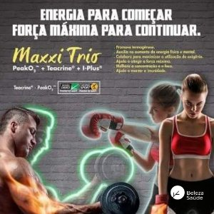 Teacrine + Peak O2+ I-plus : Maxxi Trio Pré-Treino - Resistência, Força, Energia