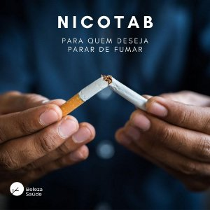 Nicotab 2mg : Pastilhas Anti Tabagismo - Para quem Deseja Tratar o Vicio do Cigarro