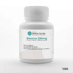Betaína 330mg + Pepsina 40mg + Papaína 120mg : Enzimas Digestivas