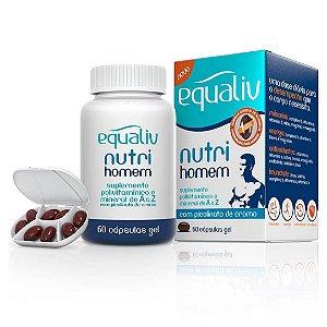 Equaliv Nutri Homem : Polivitamínico e Mineral 60 Cápsulas