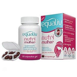 Equaliv Nutri Mulher : Polivitamínico e Mineral 60 Cápsulas