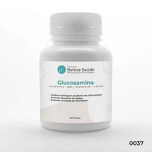 Mais Forte que Osteo Bi-flex ( Glucosamina + Condroitina + Msm + Vitamina D3 + 4 Ativos ) : Artrite, Artrose e Dores - 200 Cápsulas