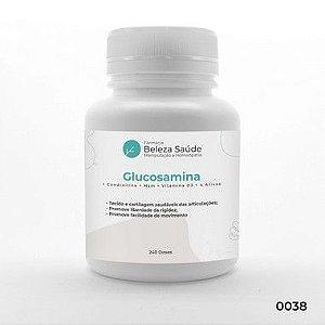Mais Forte que Osteo Bi-flex ( Glucosamina + Condroitina + Msm + Vitamina D3 + 4 Ativos ) : Artrite, Artrose e Dores - 240 Cápsulas