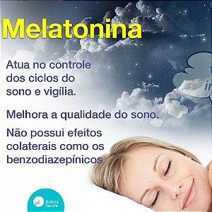 Melatonina 1mg para ter um bom sono