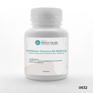 Metilfolato Vitamina B9 1000mcg + Metilcobalamina Vitamina B12 1000mcg - 100 doses