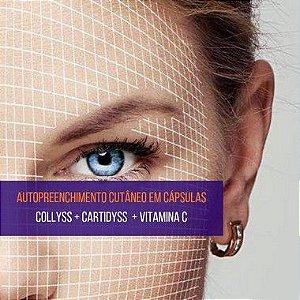 Cartidyss 300mg + Collyss 1g + Vitamina C 500mg - 90 sachês