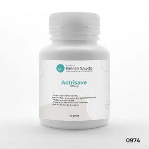 Actrisave 200mg Tratamento da Queda de Cabelos - 60 doses