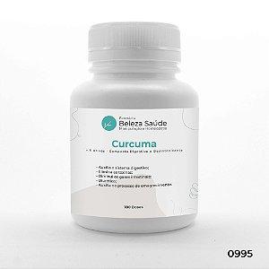 Curcuma + 5 Ativos - Composto Digestivo e Desintoxicante - 180 doses