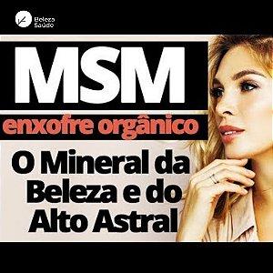 Msm 500mg : Enxofre Orgânico 180 Cápsulas