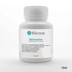 Silimarina + Metionina + 3 Ativos - Detoxificante do fígado - 120 doses