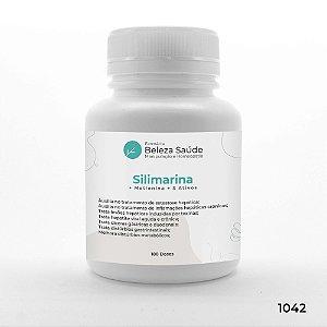 Silimarina + Metionina + 3 Ativos - Detoxificante do fígado - 180 doses