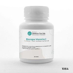 Bacopa Monnieri + 2 Ativos - Super Desempenho Mental - 30 doses