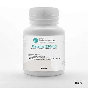 Betaína 330mg + Pepsina 40mg + Papaína 120mg : Enzimas Digestivas - 120 doses