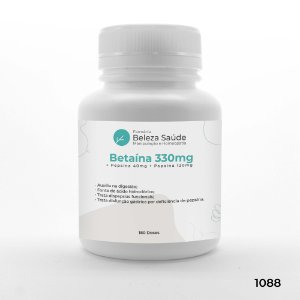 Betaína 330mg + Pepsina 40mg + Papaína 120mg : Enzimas Digestivas - 180 doses