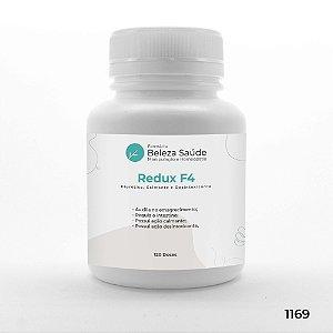 Redux F4 - Diurético, Calmante e Desintoxicantes - 120 doses