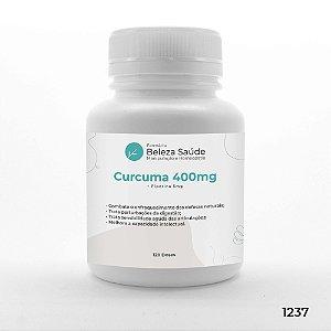 Curcuma 400mg + Piperina 5mg : Saúde Física e Mental - 120 doses