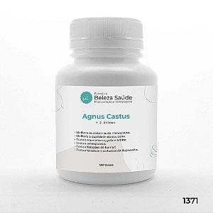 Agnus Castus + 2 Ativos - Alivia os sintomas da Menopausa - 120 doses