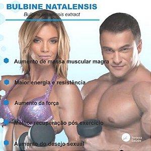 Bulbine Natalensis 250mg : Aumento de Massa Muscular Magra, Maior Energia e Resistência - 60 doses