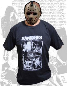 Camiseta Ramones, adulto, preta