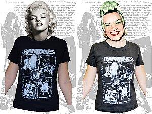 Camiseta baby look Ramones - Live