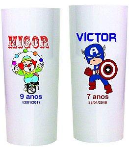 Copo Long drink 300lm ( Personalização colorida )