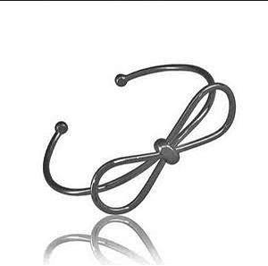 Bracelete Laço Ródio Negro