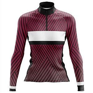 Camisa Ciclismo MTB Feminina Pro Tour Purple Manga Longa
