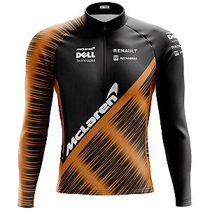Camisa Ciclismo Mountain Bike McLaren F1 Manga longa