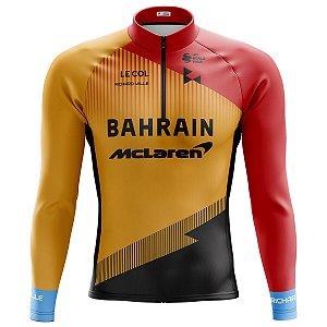 Camisa Ciclismo Mountain Bike Bahrain Mclaren Manga longa