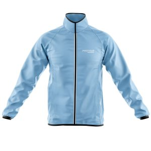 Jaqueta Ciclismo Corta Vento Pro Tour Logo Grande Azul Claro