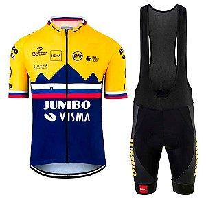 Conjunto Ciclismo Bretelle e Camisa Jumbo Forro em Gel