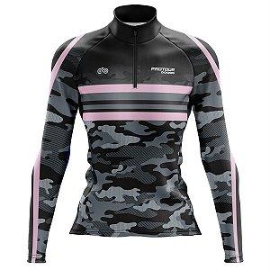 Camisa Ciclismo MTB Feminina Pro Tour Camuflada MOD 52