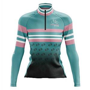 Camisa Ciclismo Mountain Bike Feminina Pro Tour Peças Manga Longa