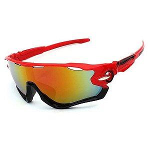 Óculos de Ciclismo Unissex Vermelho